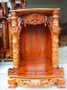 Bàn thờ thần tài, gỗ lim chạm chổ rồng