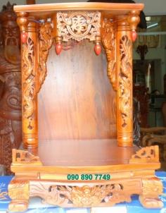 Bàn thờ Thần Tài và Ông Địa bằng gỗ tự nhiên tràm