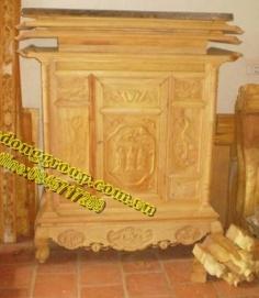 Đồ thờ cúng- Tủ Thờ gỗ tự nhiên