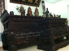 Bộ tủ thờ cao cấp bằng gỗ tự nhiên