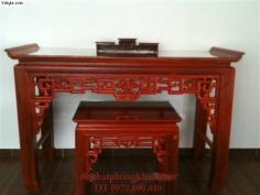 Bàn thờ tứ linh – Sập thờ Minh móc MS-15
